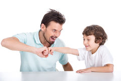Father and son. Portrait of a young father and son who spend time together Royalty Free Stock Photos