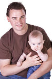 Father and Son Posing Royalty Free Stock Images