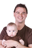 Father and Son Posing Royalty Free Stock Photo