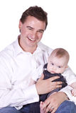 Father and Son Posing Royalty Free Stock Photography