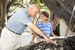 Father Son Project royalty free stock image