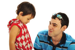 Father and Son relationships Stock Images
