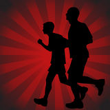Father Son Runners Stock Photography