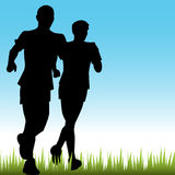 Father Son Runners stock illustration