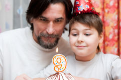 Father and son's Birthdays Royalty Free Stock Images