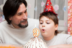 Father and son's Birthdays Stock Photography