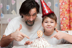 Father and son's Birthdays Royalty Free Stock Photo