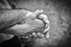 Father and son's hands Royalty Free Stock Photo