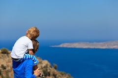 Father and son on sea vacation Royalty Free Stock Photo