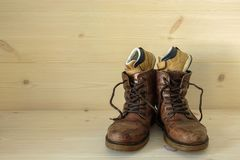 Father and son shoes royalty free stock photography