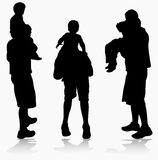 Father and son silhouette Royalty Free Stock Photography