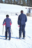Father and son skiing Royalty Free Stock Image