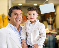 Father and son shopping Stock Photography