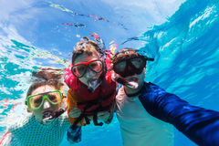 Father and son snorkeling Royalty Free Stock Images