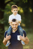 Father and son spending time Royalty Free Stock Photography