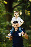 Father and son spending time Royalty Free Stock Image