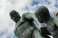 Father and son statue Stock Photo