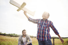 Father with son in the summer Stock Photography