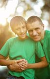 Father and son in summer park Royalty Free Stock Photography