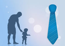 Father with son and tie. Illustration of father with son and tie Royalty Free Stock Image