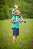 Father and son time concept Royalty Free Stock Photo