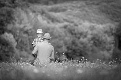 Father and son time concept Royalty Free Stock Image