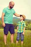 Father and son time concept Royalty Free Stock Photography
