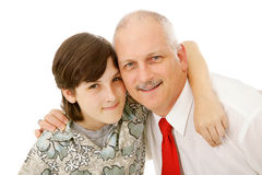 Father and Son Together Stock Image