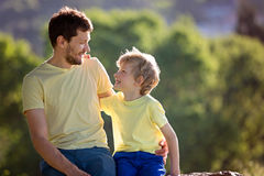 Father and son together Royalty Free Stock Image