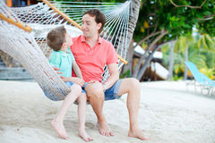 Father and son on vacation Royalty Free Stock Photography