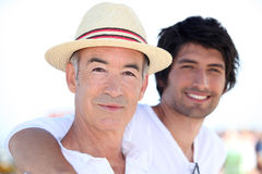 Father and son on vacation Royalty Free Stock Photo