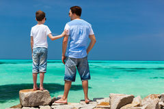 Father and son on vacation Stock Photography