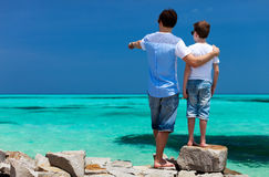 Father and son on vacation Stock Photo