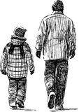 Father and son at walk Stock Photography