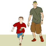 Father Son Walking Royalty Free Stock Images