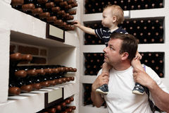 Father with son at winery Royalty Free Stock Image