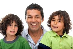 Father and sons Royalty Free Stock Images