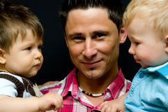 Father and sons Stock Photos
