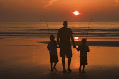 Father and sons Royalty Free Stock Photos