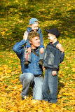 Father and sons Stock Photography