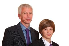 Father and sonsuits Royalty Free Stock Images
