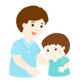 Father soothes crying son  Royalty Free Stock Photography