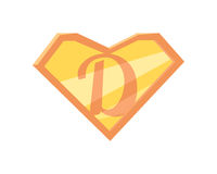Father Superhero Symbol Royalty Free Stock Photos