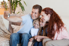Father taking family photography Royalty Free Stock Photo