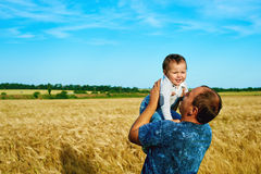 The father is talking to his daughter Happy smiling child with the parent. Family portrait.Father's day Stock Photo
