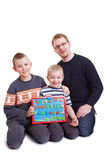 Father teaching his boys Royalty Free Stock Photo