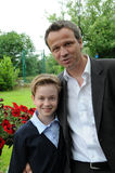 Father and teenager son Royalty Free Stock Image