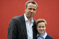 Father and teenager son Royalty Free Stock Photo
