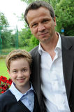 Father and teenager son Stock Images