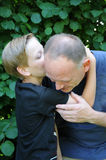 Father and teenager son Royalty Free Stock Images